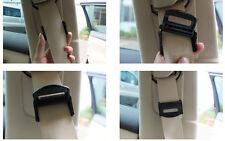 BLACK VAUXHALL Seat Belts Safety Adjustable Stopper Buckle Plastic Clips 2PCS