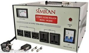 Best Voltage Converter NEW 5000W With Stabilizer 220V 110V Transformer 5000 Watt