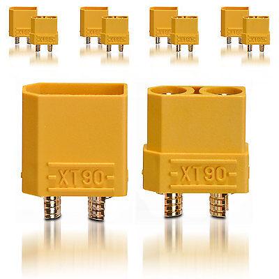 Adattabile Alta Tensione Xt90 Spina Prese Connettori Oro 5 Paio Partcore 100148 Beneficiale Per Lo Sperma