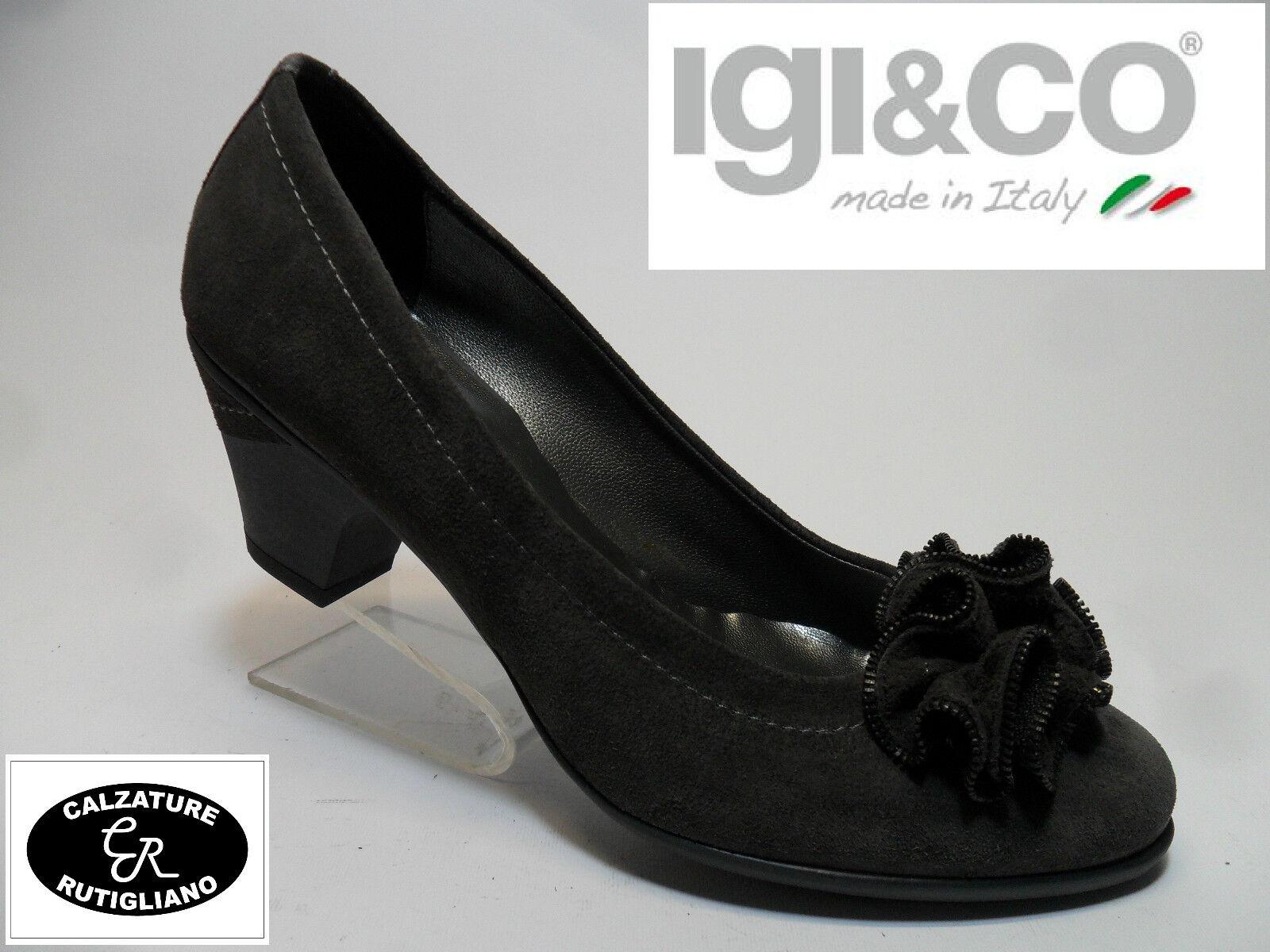 IGI & CO art.58044 SCARPE DONNA MODELLO DECOLLETE CAMOSCIO GRIGIO N.36 | Menu elegante e robusto  | Sig/Sig Ra Scarpa