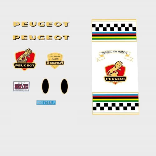 Decals n.158 Transfers Peugeot Bicycle Frame Stickers