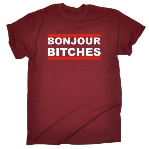 Bonjour Bitches T-SHIRT Rude Urban Hipster Cool French Funny birthday gift
