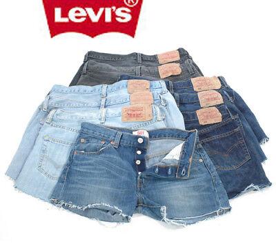 Levis 501 Pantaloncini Di Jeans Grado B Vita Alta Vintage 6 8 10 12 14 16 18 20-mostra Il Titolo Originale