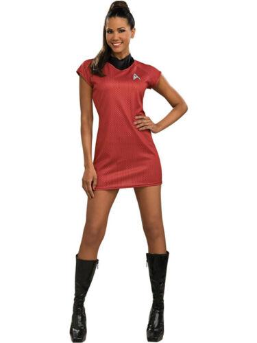 New Adult Ladies Deluxe Uhura Star Trek Fancy Dress Costume Uniform Adult Outfit
