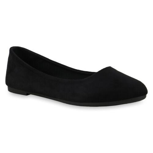 Damen Klassische Ballerinas Basic Flats Slipper Slip On Schuhe 830764 Trendy