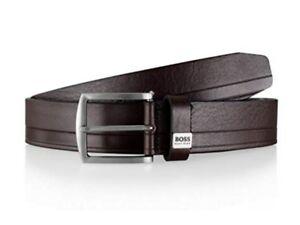 Hugo-Boss-Saltrio-Belt-50266955-202-Handmade-in-Italy-100-Cow-Leather-Brown