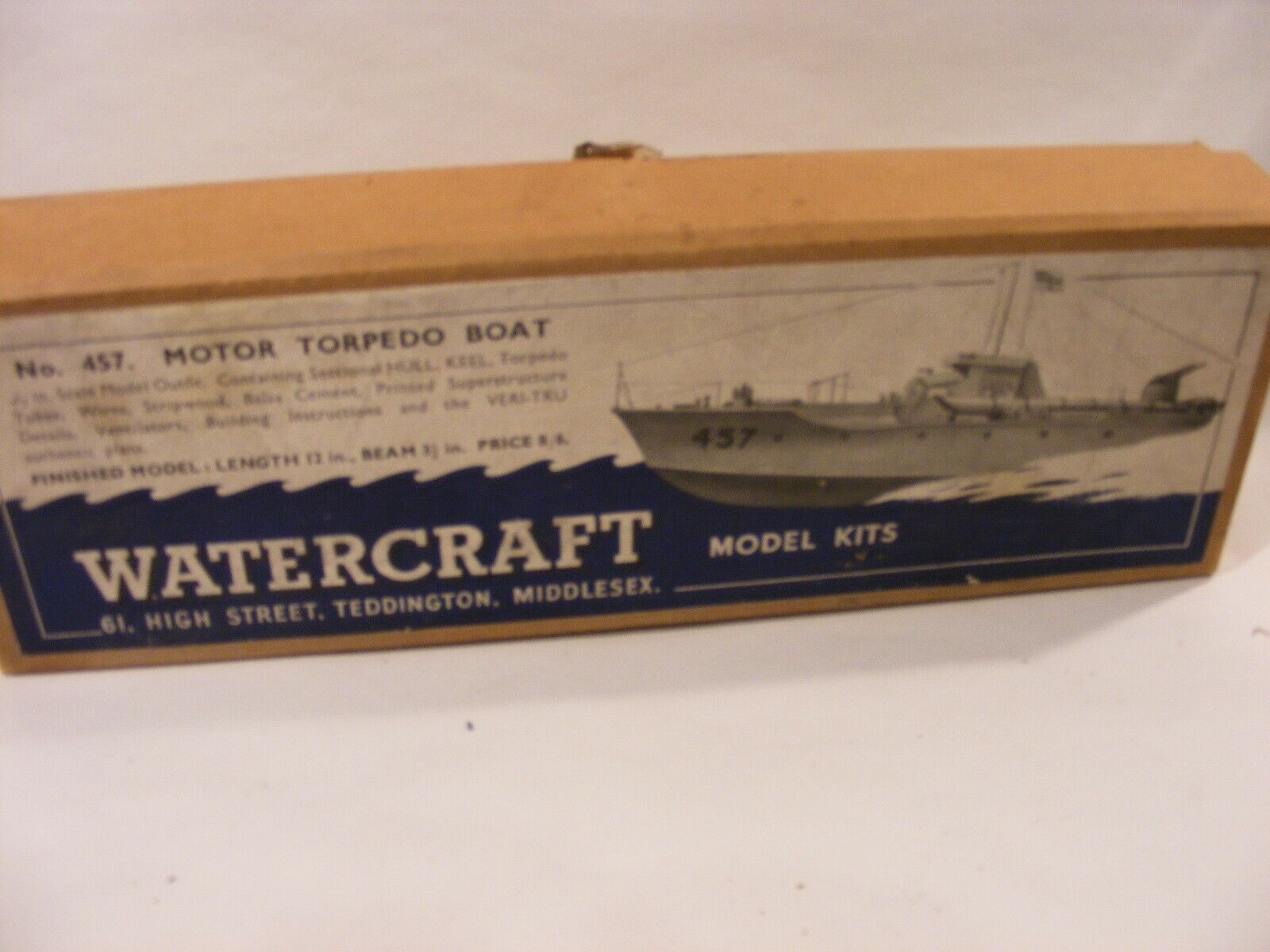 VINTAGE WATERCRAFT MOTOR TORPEDO BOAT WOODEN KIT  No457