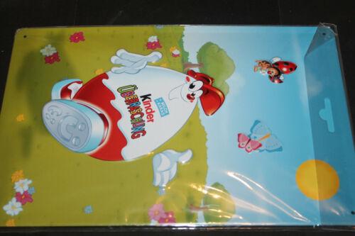 Ferrero Werbeartikel Kinderino Blechschild limitiert Motiv Kinderino 20x30cm