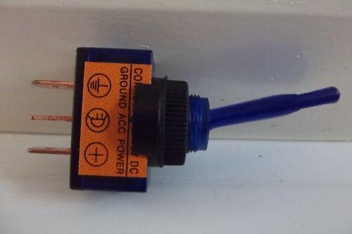 Toggle Flick  Switch  ON//OFF  Illuminated  Blue  12V  20A  Light Car  Dash Panel