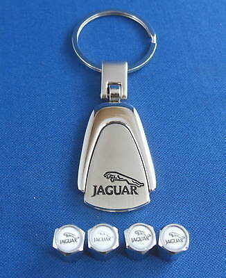 Jaguar Keyring & Valve Caps With Jaguar Logo Ample Supply And Prompt Delivery key2
