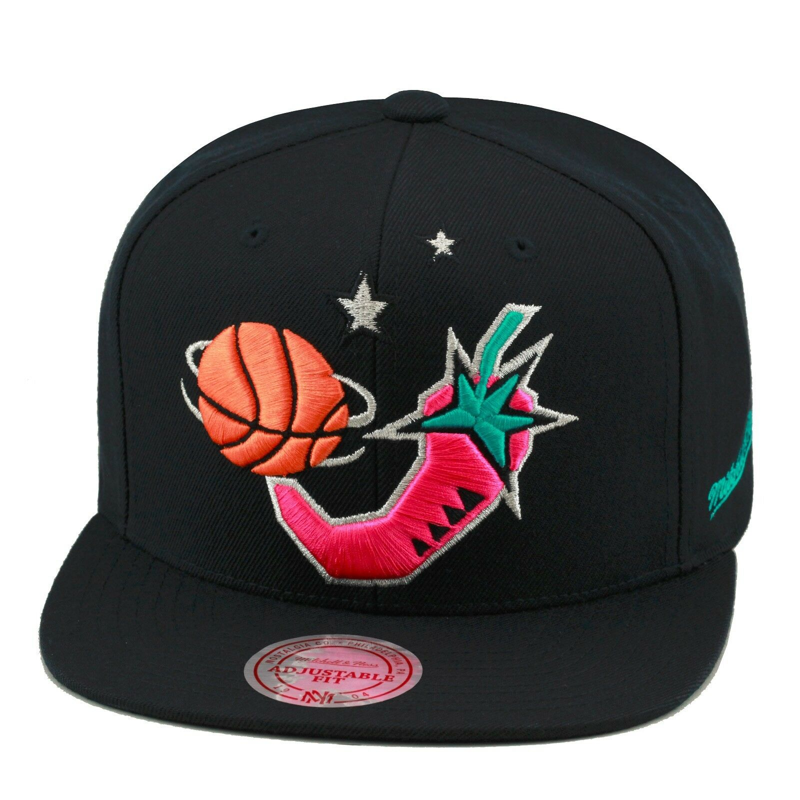 Mitchell Snapback & Ness NBA All Star Game 1996 Snapback Mitchell Hat BLACK/Pink Pepper/BLACK BOT 20c5b0