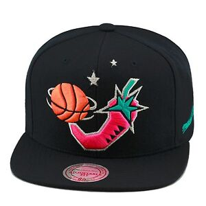Mitchell-amp-Ness-NBA-All-Star-Game-1996-Snapback-Hat-BLACK-Pink-Pepper-BLACK-BOT