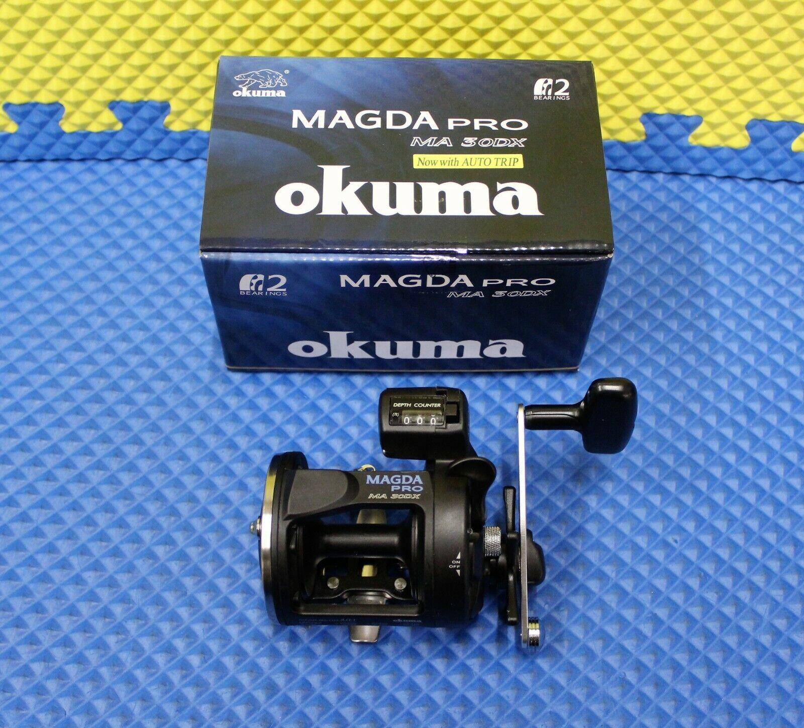 Okuma Magda Pro 2BB ma Contador de línea 30DX Cocherete de arrastre