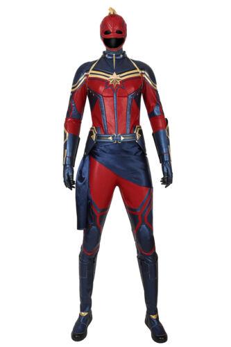 Avengers 4 Endgame Ms Marvel Cosplay Carol Danvers Costume Captain Marvel Suit