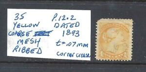 CANADA-1-CT-YELLOW-SMALL-QUEEN-DATED-1893-SCOTT-35-USED-BS13830