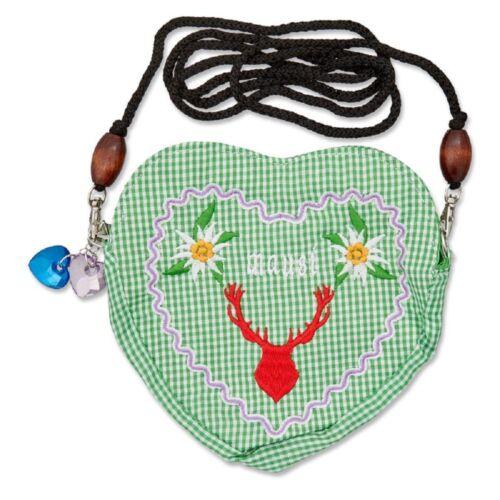 Edelweiss Trachten Tasche Oktoberfest Dirndl Herzform abnehmbarem Langer Kordel