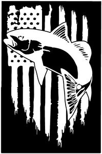American flag redfish spottail bass fish fishing vinyl die for American flag fish