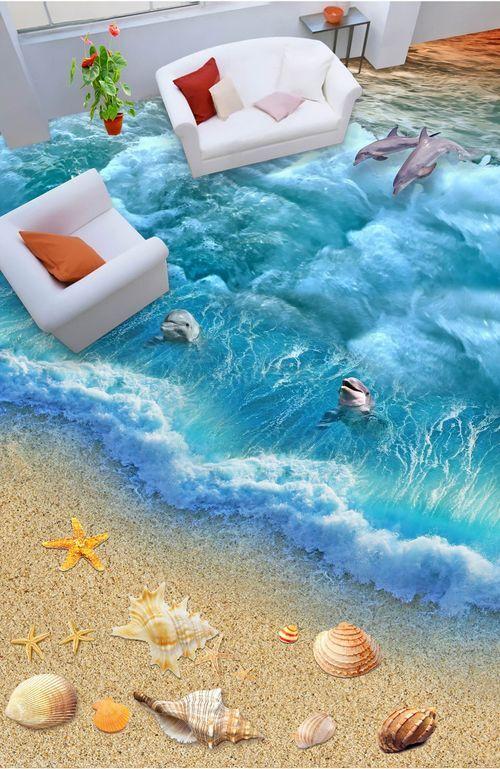 3D water beach water 71 Floor WallPaper Murals Wall Print Decal 5D AJ WALLPAPER6