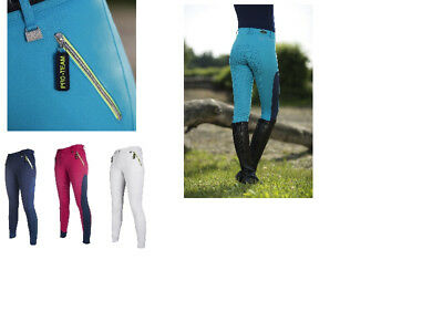 HKM Ladies Breeches Belmtex Grip Seat All Colours// Sizes Free Delivery