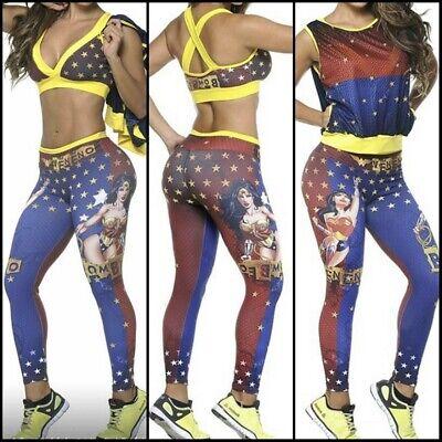 Colombian Brésilien Femme Ensemble Tenue Collants & Haut CHEMISIER S M Gym de | eBay