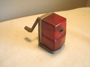Monkey Business Turnkey Red Retro Style Pencil Sharpener