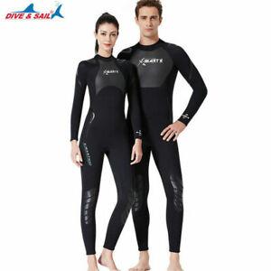 3mm Thick Women's Men's Wetsuits Zipper Full One-piece Wetsuits UK