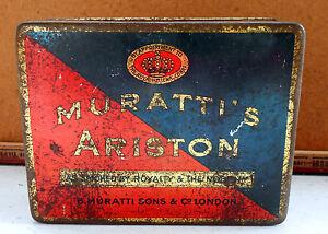 MURATTI-039-S-ARISTON-CIGARETTES-LONDRA-SCATOLA-DI-LATTA-MADE-IN-SWITZERLAND