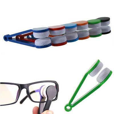 5Pcs Cute Mini Glasses Eyeglass Sunglasses Spectacles Microfiber Cleaner Brush