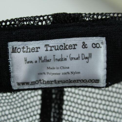 Thankful Mother Trucker Hat Mesh Buckle Snapback Black