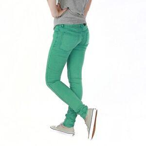 Brillant Cheap Monday Zip Bas Pantalon Vert Femmes Jeans Skinny DéLicieux Dans Le GoûT