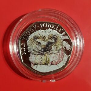 2016-Beatrix-Potter-Mrs-Tiggy-Winkle-50p-Fifty-Pence-Coin-Collectors-Sale