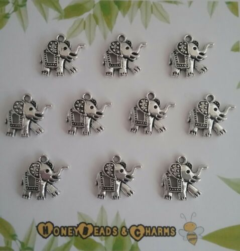 ❤ Pack of 10 ❤ CRAFTING//JEWELLERY MAKING ❤COMBINED P/&P❤ ❤ Elephant Charms Boho