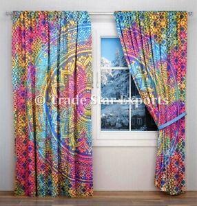 Tie Dye Curtains Boho Door Window