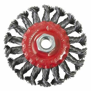 4-034-100mm-Twist-Knot-Flat-Wire-Wheel-Rotary-Cup-Brush-M14-Thread-Angle-Grinder