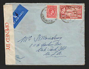 OPC 1940 Jamaica Hope Bay to USA Censor