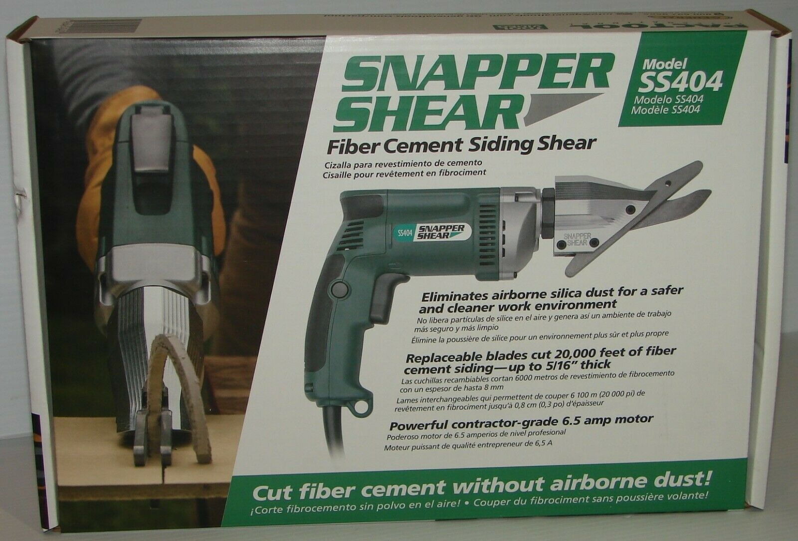 """PacTool SS404 Snapper Shear For Cutting Up To 5 16"""" Fiber Cement Siding 6.5 Amp."""