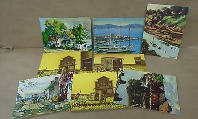 Litho In U.s.a Save 50-70% N.y 8 Frameable Art Boards By D.a.c