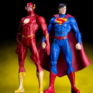 2PCS-DC-The-Flash-Superman-Action-Figure-Justice-League-Hero-PVC-Toy-Collection