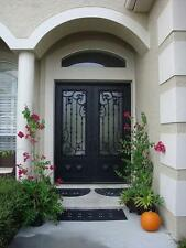 """72"""" X 96"""" Stunning Wrought Iron Entry Doors with glass"""