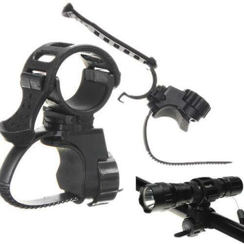 Bike Bicycle Cycle Flashlight Torch Mount LED Head Light Holder Clip Clamp PF