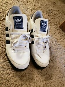 Adidas-Orion-Mens-Leather-Athletic-Running-Training-Shoes-Size-11-1-2-White-Blue