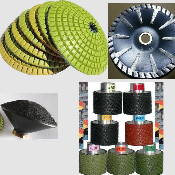 Diamond Polishing Drums /& SiC Stones for Inner Curve Edge Grinding /& Polishing
