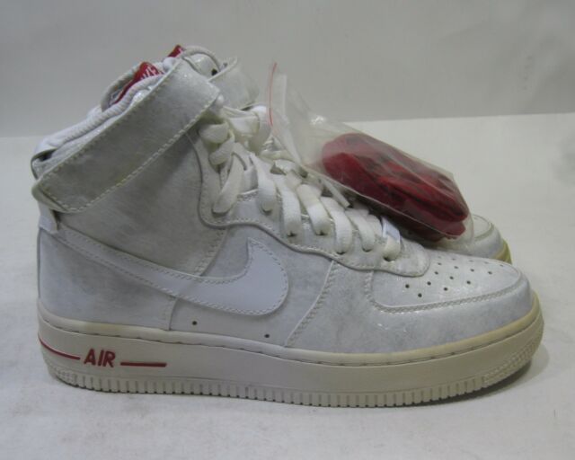 Nike Womens 1 Red White 9 Air Force Premium 344080 111 Size High pqUzSMV