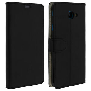 Custodia-Flip-Wallet-slim-cover-per-Samsung-Galaxy-J4-Guscio-in-Silicone-Core-nero