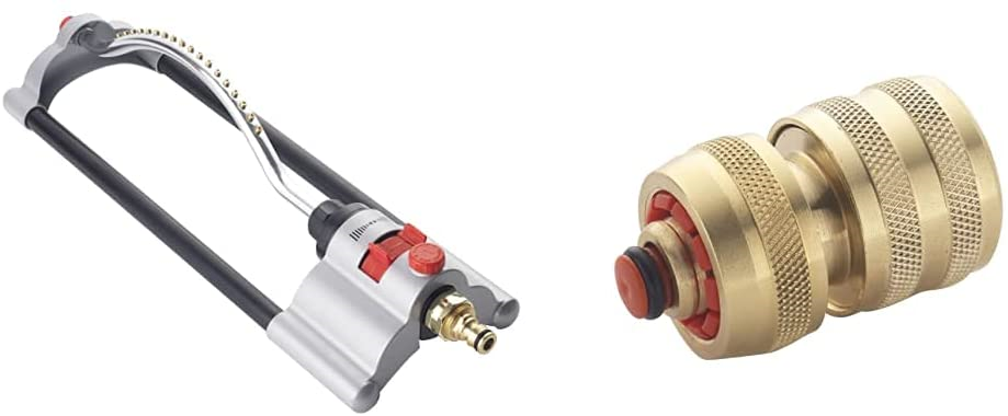 Spear and Jackson BWF22 Oscillating Sprinkler with Brass Connector, Multi-Colour