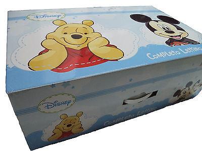 Cordiale Coordinato Lenzuola Con Trapuntino E Paracolpi Per Culla. Disney Personaggi Bimb Ottima Qualità