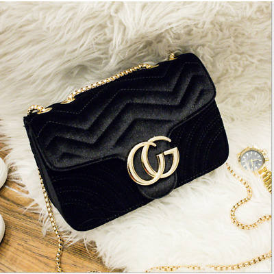2019 NEW BRAND Quilted Velvet Chain Strap Handbag Crossbody Quilted Flap Bag