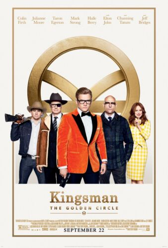 24x36 - Taron Egerton Colin Firth v12 Kingsman The Golden Circle Movie Poster