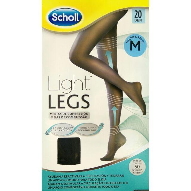 DR SCHOLL LIGHT LEGS MEDIAS DE COMPRESIÓN COLOR NEGRO 20 DEN TALLA M 182847