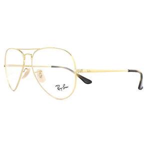 ab3b7b702a Ray-Ban Glasses Frames 6489 Aviator 2500 Gold 55mm 8053672741841